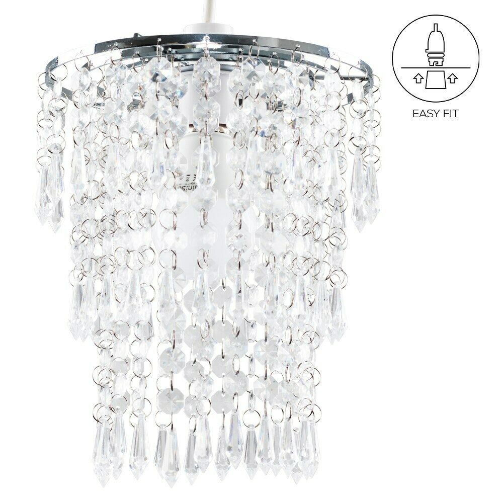 Modern-Chandelier-Easy-Fit-Ceiling-Pendant-Light-Shade-Acrylic-Glass-Shades thumbnail 33