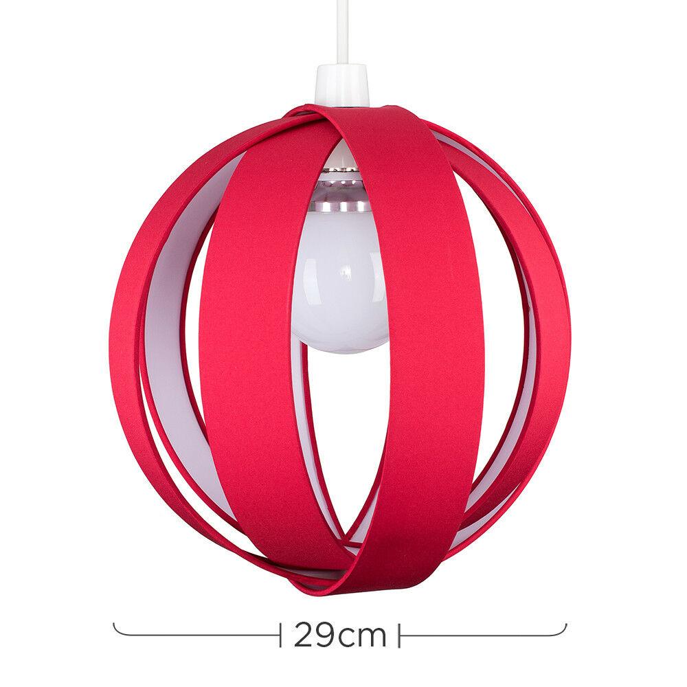 Minisun-Globe-DEL-plafond-lumiere-pendentif-nuances-Abat-jour-eclairage-Ampoule-DEL miniature 50