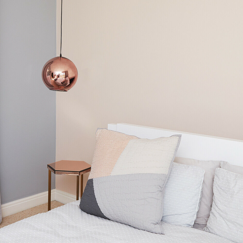 Copper-amp-Chrome-Metallic-Glass-Globe-Non-Electric-Ceiling-Pendant-Easy-Light thumbnail 25