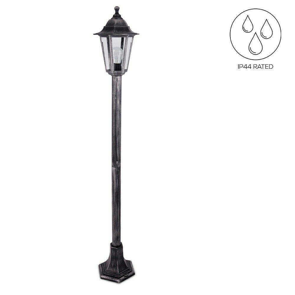 Black Victorian Style Pillar Light: Traditional Victorian Style Outdoor Garden Patio Lamp Post