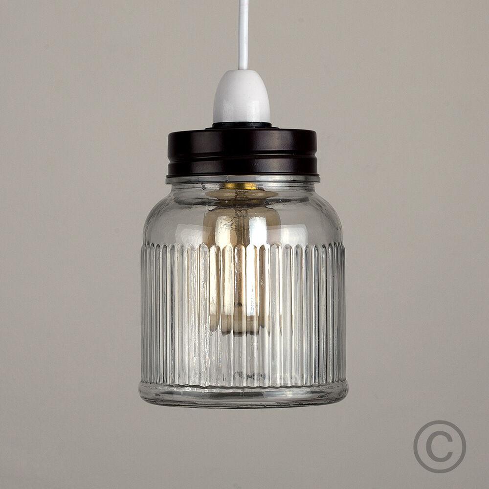 Vintage-Retro-Style-Jar-Gift-Ceiling-Pendant-Light-Lamp-Shades-Glass-Lighting thumbnail 12