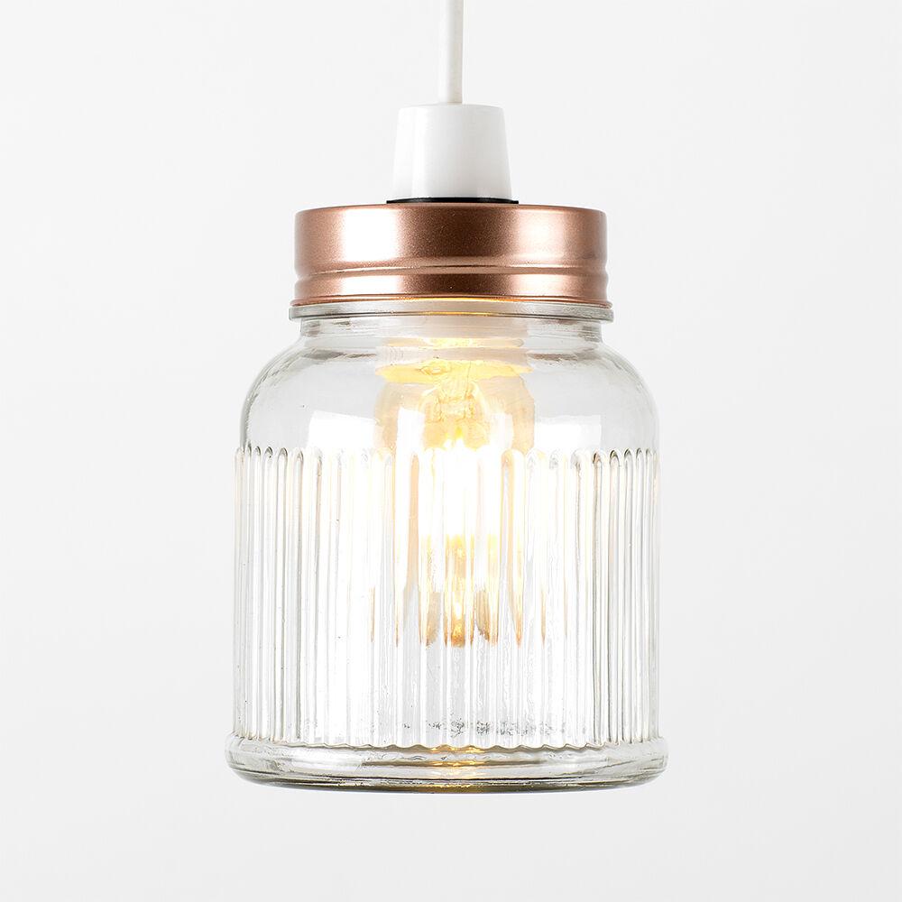 Vintage-Retro-Style-Jar-Gift-Ceiling-Pendant-Light-Lamp-Shades-Glass-Lighting thumbnail 7