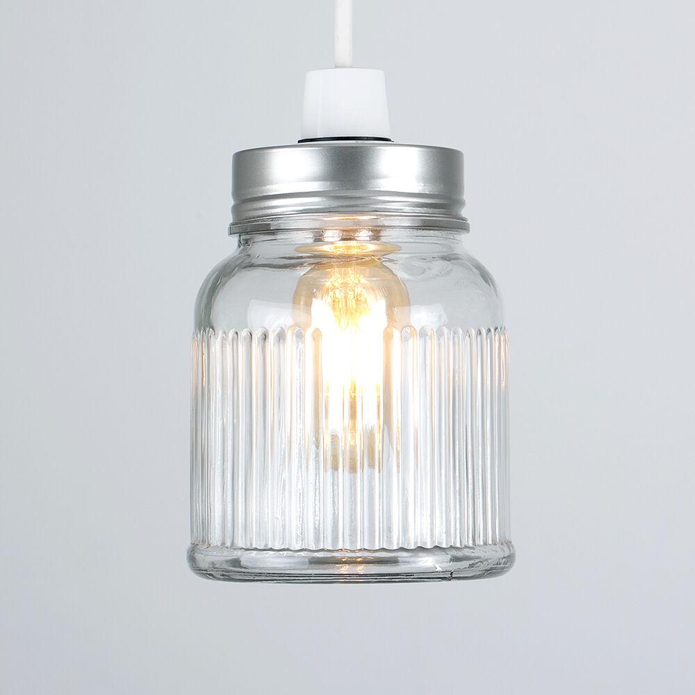 Vintage-Retro-Style-Jar-Gift-Ceiling-Pendant-Light-Lamp-Shades-Glass-Lighting thumbnail 9