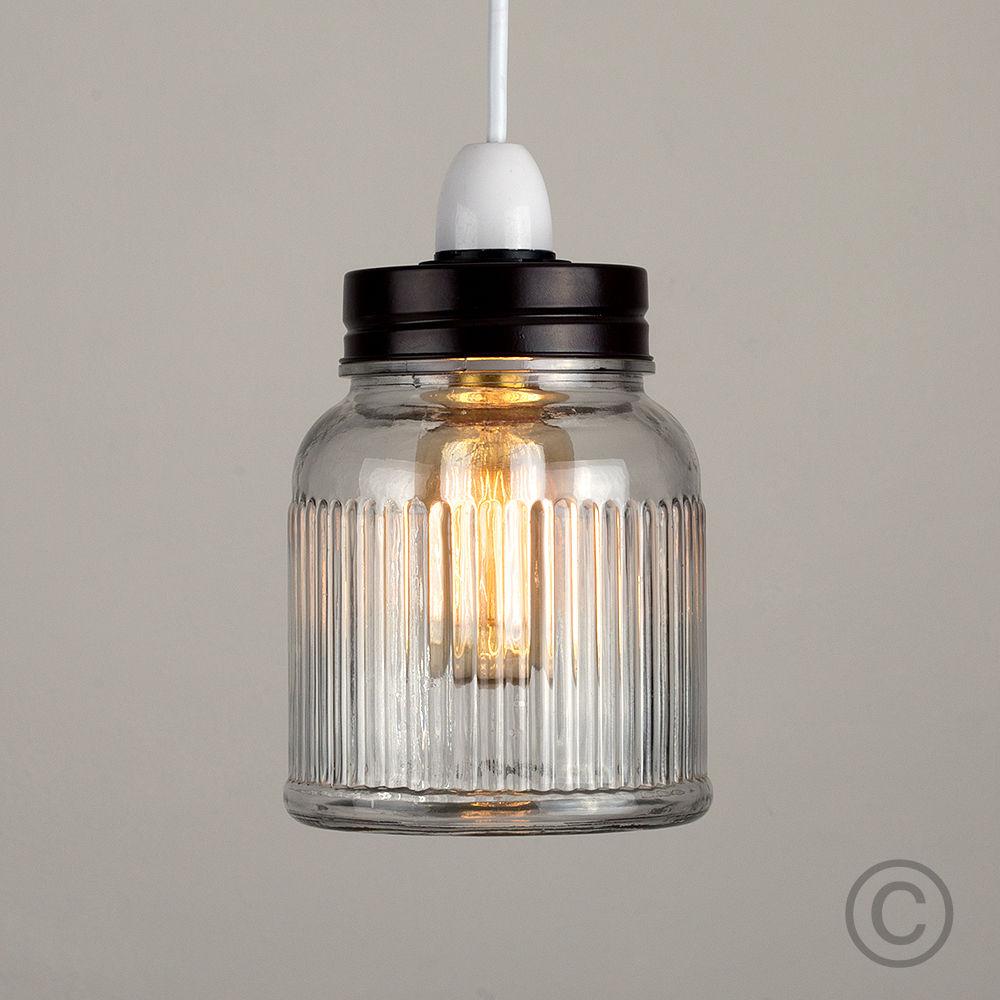 Vintage-Retro-Style-Jar-Gift-Ceiling-Pendant-Light-Lamp-Shades-Glass-Lighting thumbnail 13