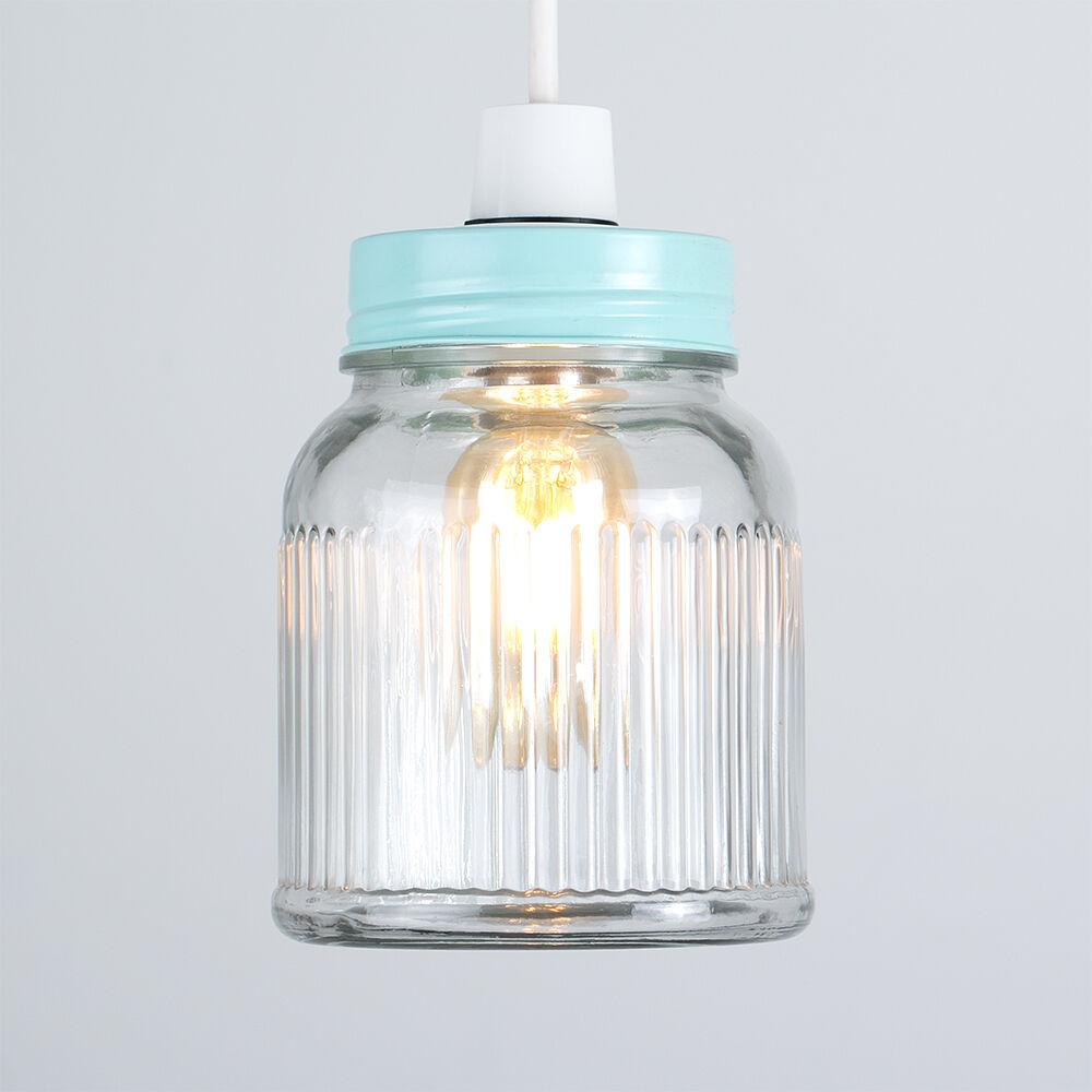 Vintage-Retro-Style-Jar-Gift-Ceiling-Pendant-Light-Lamp-Shades-Glass-Lighting thumbnail 11