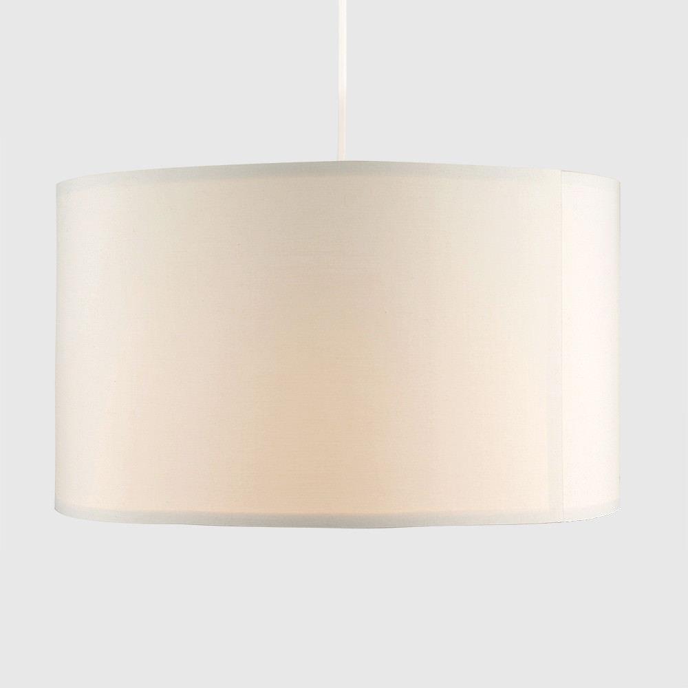 Grand-Tambour-Coton-Leger-nuances-Abat-jour-ajustement-facile-creme-noir-gris-beige-Ampoule miniature 17