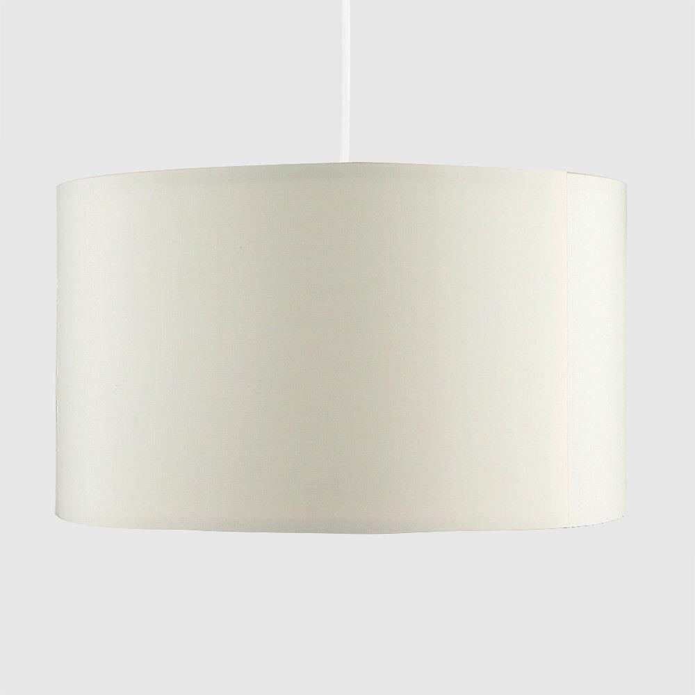 Grand-Tambour-Coton-Leger-nuances-Abat-jour-ajustement-facile-creme-noir-gris-beige-Ampoule miniature 16
