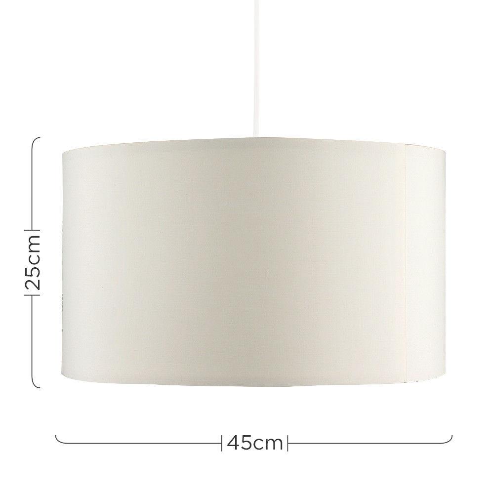 Grand-Tambour-Coton-Leger-nuances-Abat-jour-ajustement-facile-creme-noir-gris-beige-Ampoule miniature 18