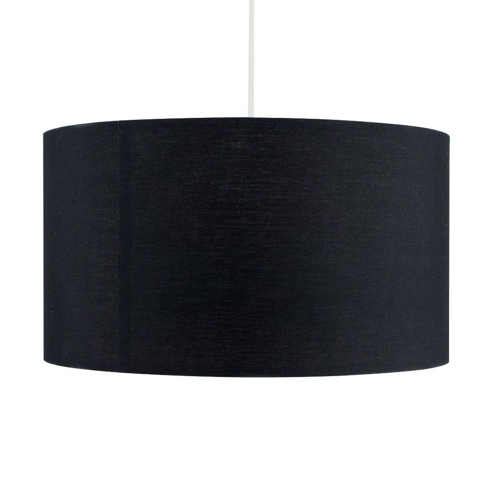Grand-Tambour-Coton-Leger-nuances-Abat-jour-ajustement-facile-creme-noir-gris-beige-Ampoule miniature 9