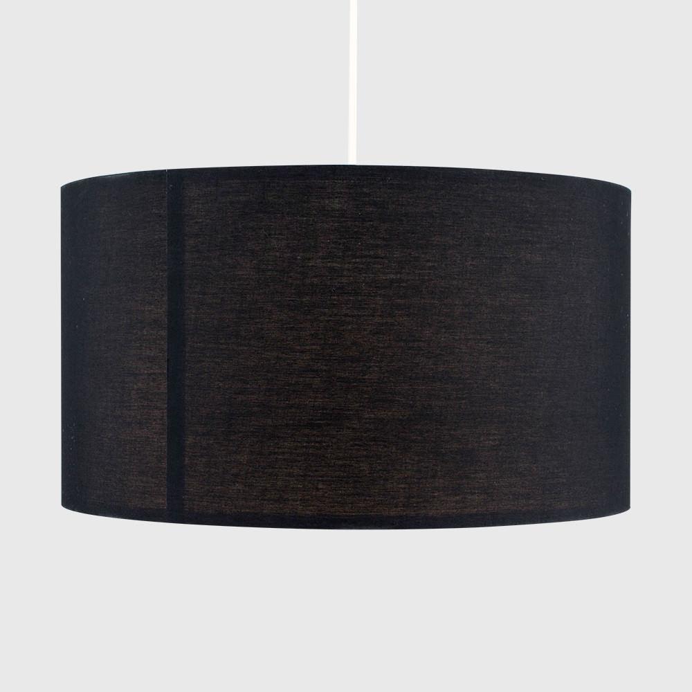 Grand-Tambour-Coton-Leger-nuances-Abat-jour-ajustement-facile-creme-noir-gris-beige-Ampoule miniature 11