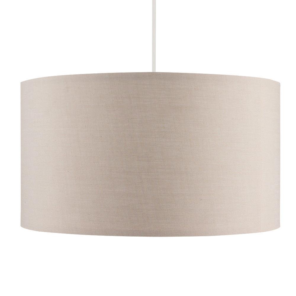 Grand-Tambour-Coton-Leger-nuances-Abat-jour-ajustement-facile-creme-noir-gris-beige-Ampoule miniature 3