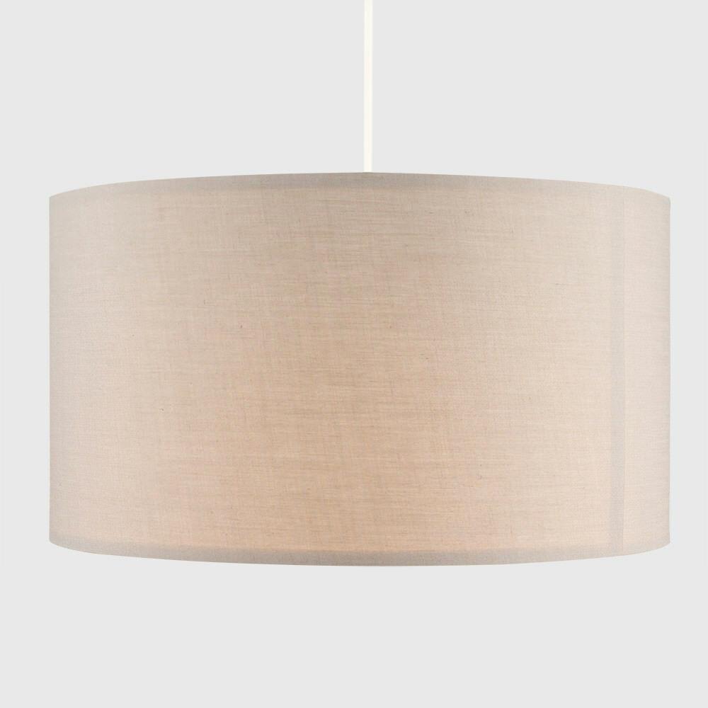 Grand-Tambour-Coton-Leger-nuances-Abat-jour-ajustement-facile-creme-noir-gris-beige-Ampoule miniature 5