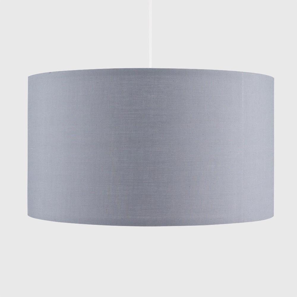 Grand-Tambour-Coton-Leger-nuances-Abat-jour-ajustement-facile-creme-noir-gris-beige-Ampoule miniature 22