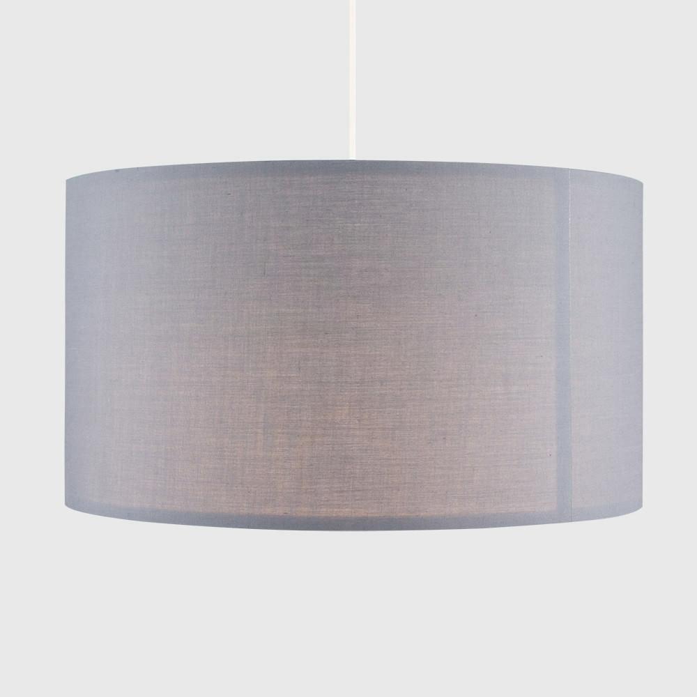 Grand-Tambour-Coton-Leger-nuances-Abat-jour-ajustement-facile-creme-noir-gris-beige-Ampoule miniature 23