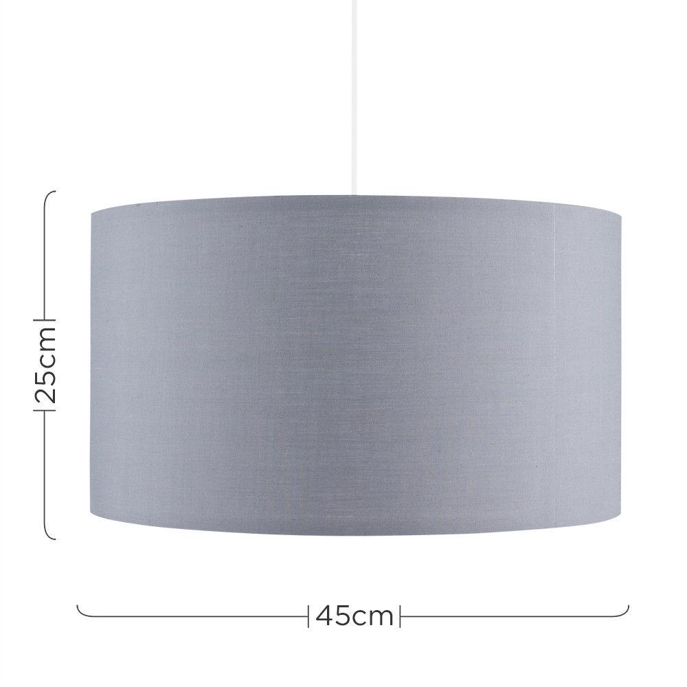 Grand-Tambour-Coton-Leger-nuances-Abat-jour-ajustement-facile-creme-noir-gris-beige-Ampoule miniature 24