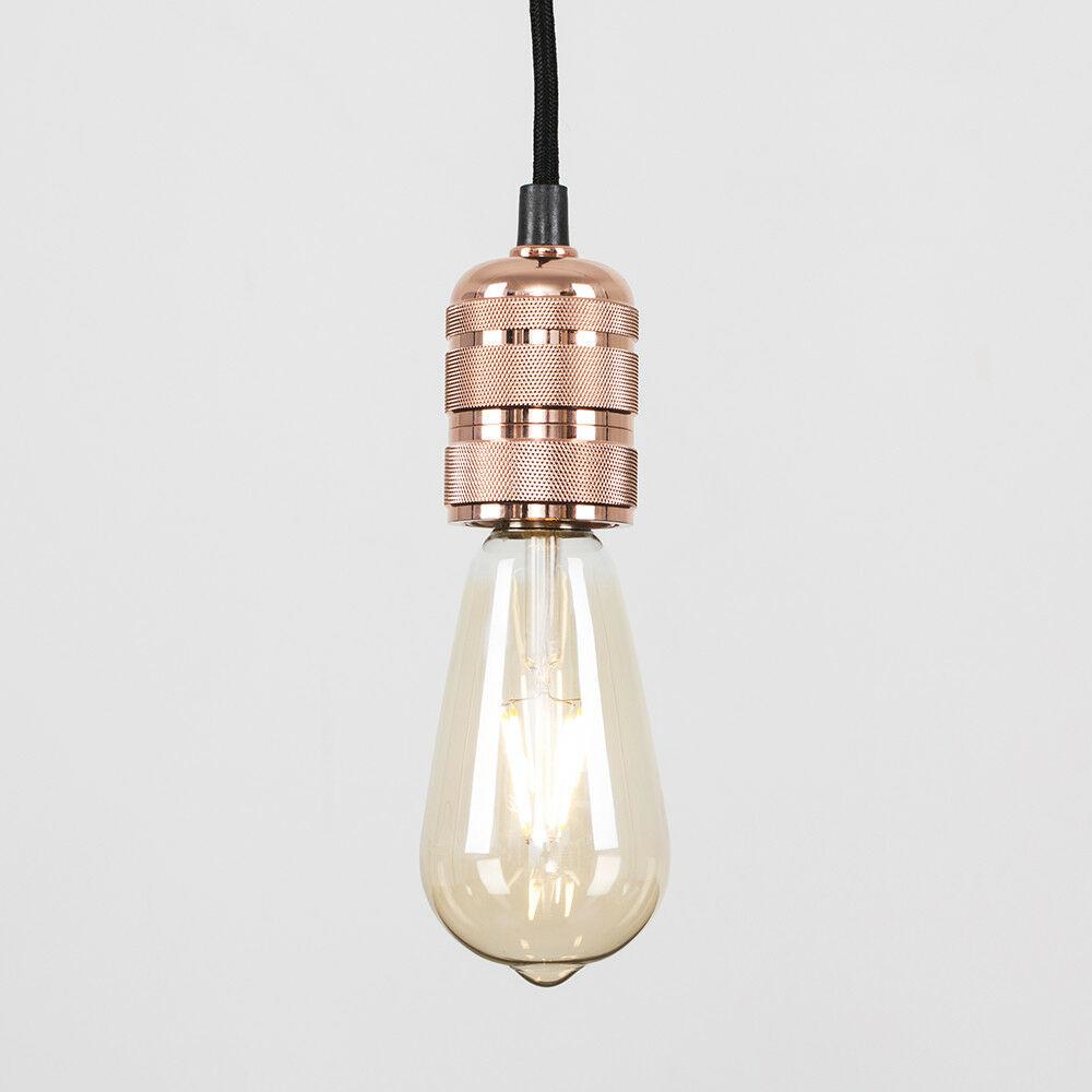 37be7fda9b40 LED Matt Grey Copper Inner Ceiling Light Shade Modern Pendant ...