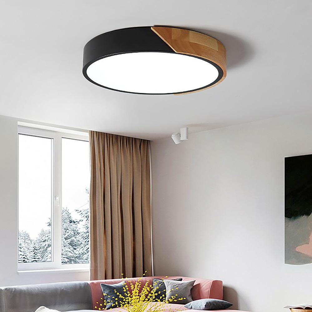 Details about Modern Ceiling Light Fixture Bedroom LED Drum ShapedFlush  Mount Ceiling Lamp US