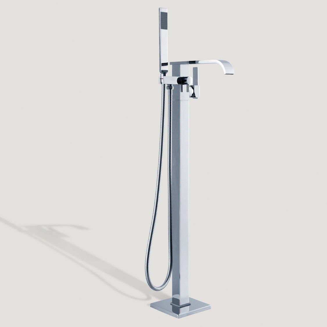 Details About Homary Single Handle Floor Mount Clawfoot Tub Faucet With Handheld Shower