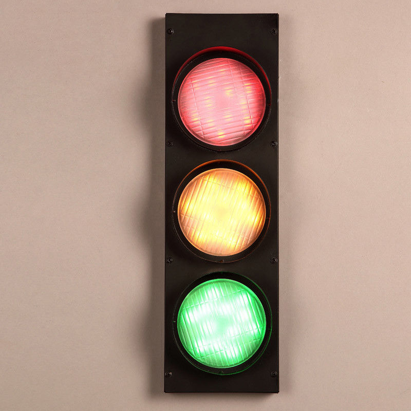 Vintage-Multicolor-Metal-Traffic-Signal-Lights-LED-Lighting-Sconce-Wall-Lamp miniature 14