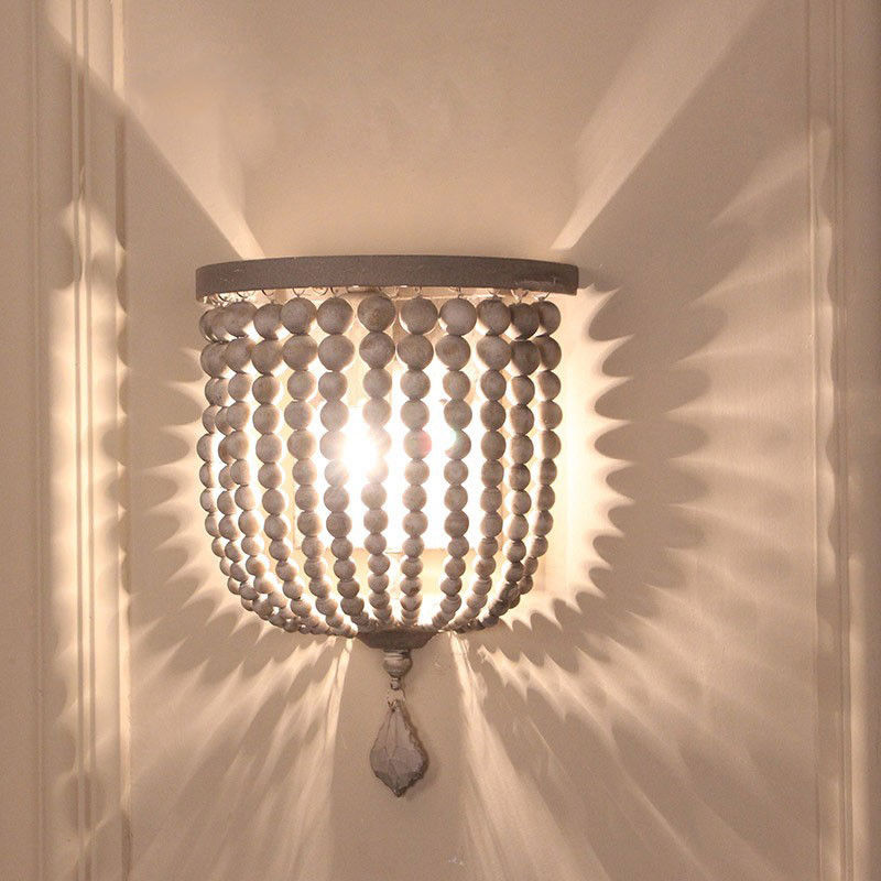 Details About Country Style Single Light Beaded Decorative Indoor Wall Sconce Lighting Lamp