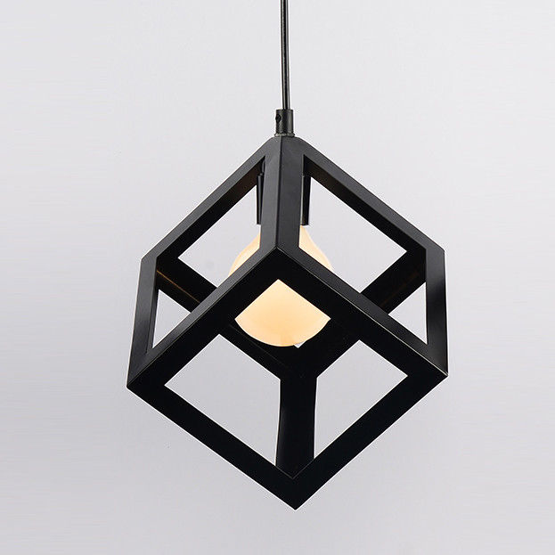 Kitchen Table Lighting: Modern Black Geometric Hanging Pendant Lighting Kitchen