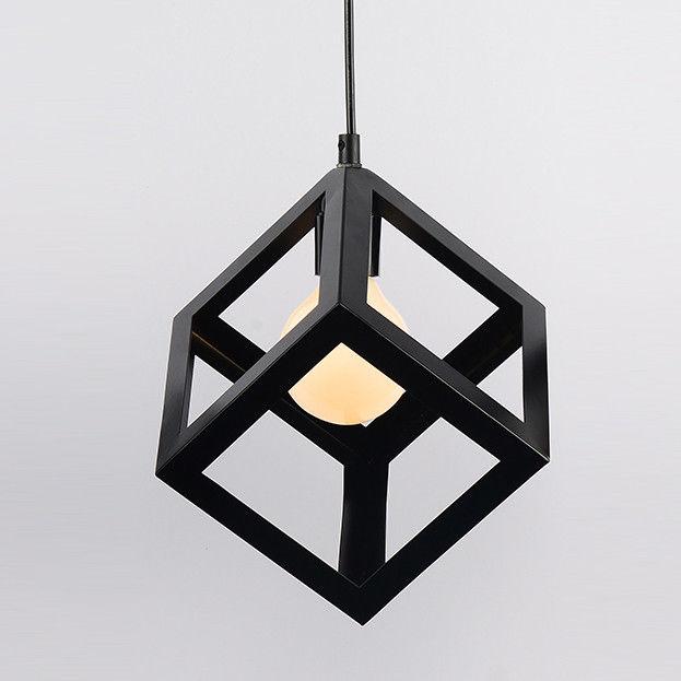 Modern Black Geometric Hanging Pendant Lighting Kitchen