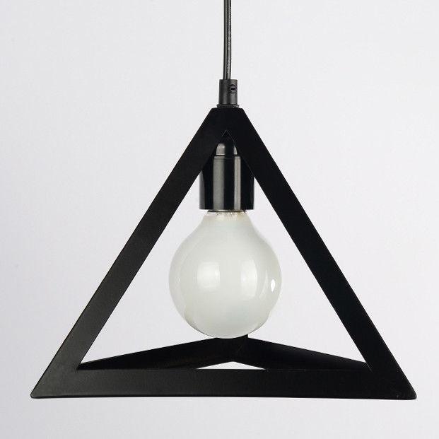 Hanging Table Lamp: Modern Black Geometric Hanging Pendant Lighting Kitchen