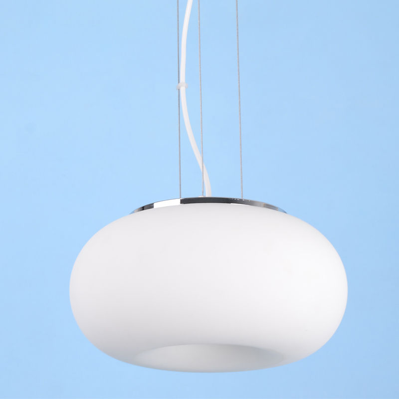 Modern Donut Frosted White Glass Suspension Hanging