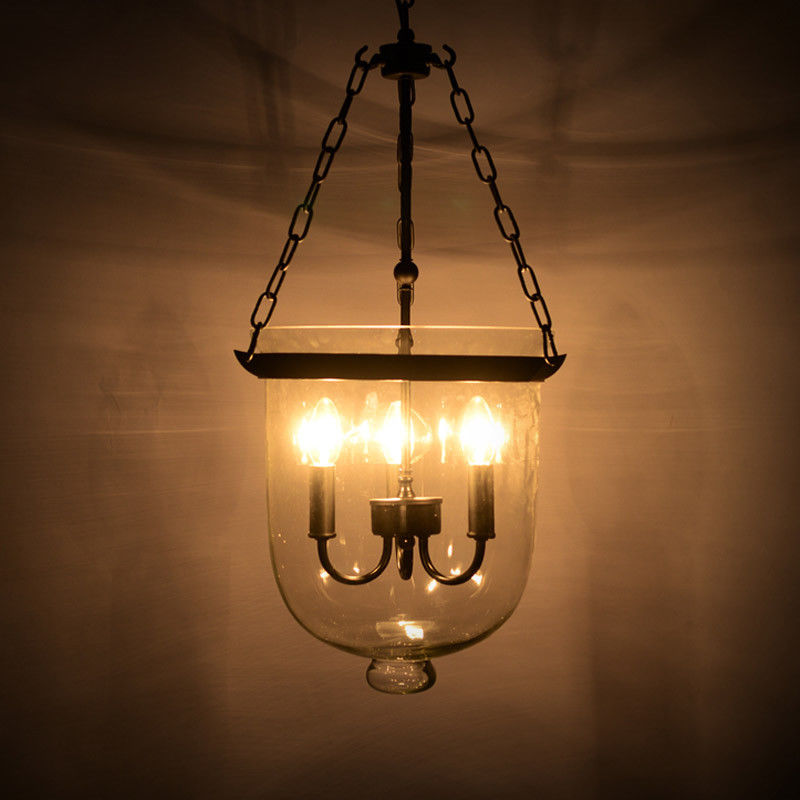 Retro-Rustic-Clear-Glass-Bell-Jar-Shade-Hanging-Pendant-Light-amp-3-Candle-Lights thumbnail 15