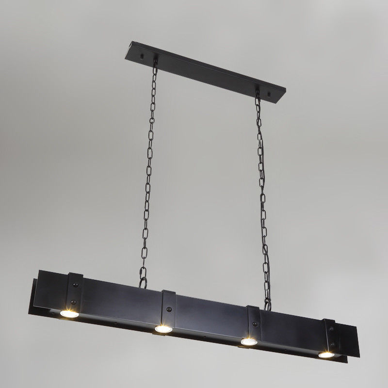 Industrial Style Linear LED Metal Kitchen Island Pendant ...