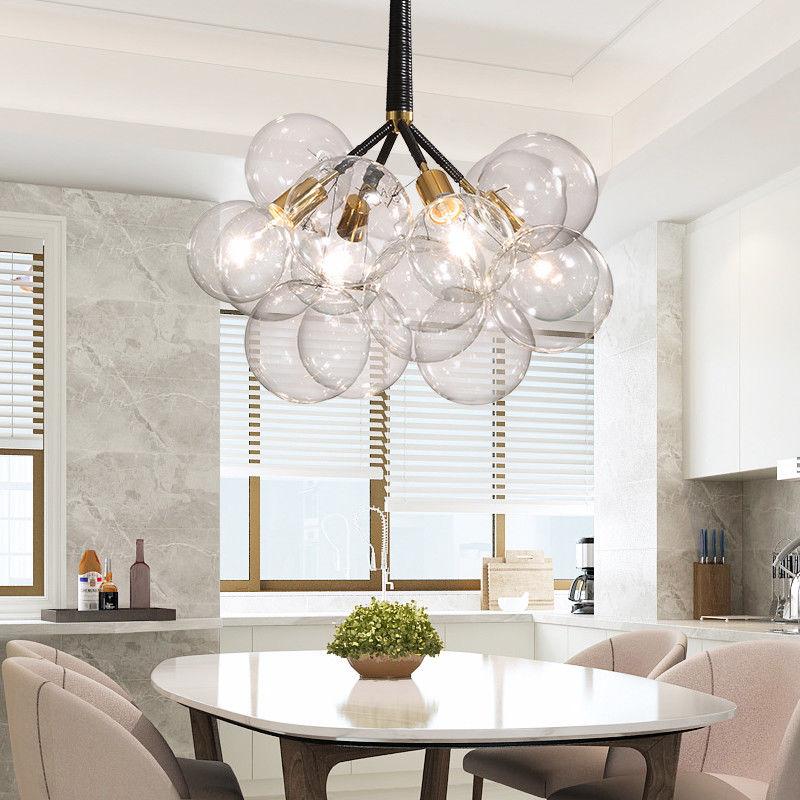 Details About Modern Multiple Bubble Ball Hanging Pendant Lighting Kitchen Glass Fixture Lamp