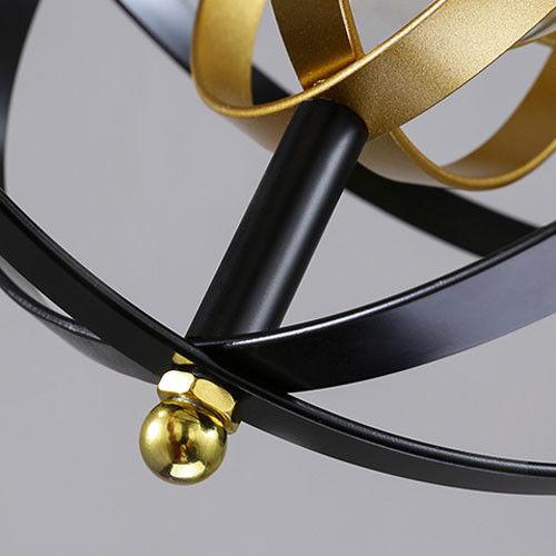 Led Ceiling Light Globe: Modern Industrial Metal Strap Globe Pendant Light Living