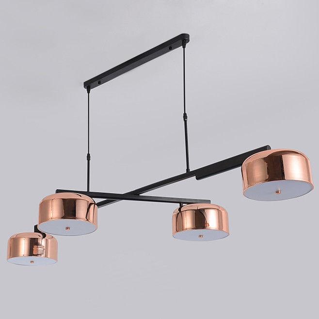 4-Light Rotating Kitchen Island Light Metal&Acrylic