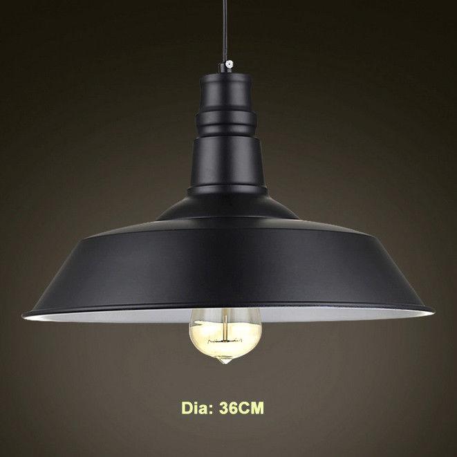 Single Edison Bulb Metal Suspended Ceiling Light