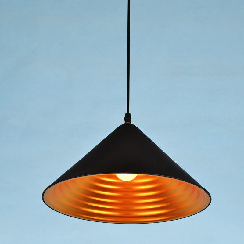 Modern Whorl Cone Shaped Single Hanging Pendant Light