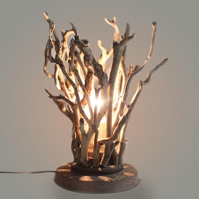 Rustic Natural Tree Branch 1 Light Table Lamp Plugin