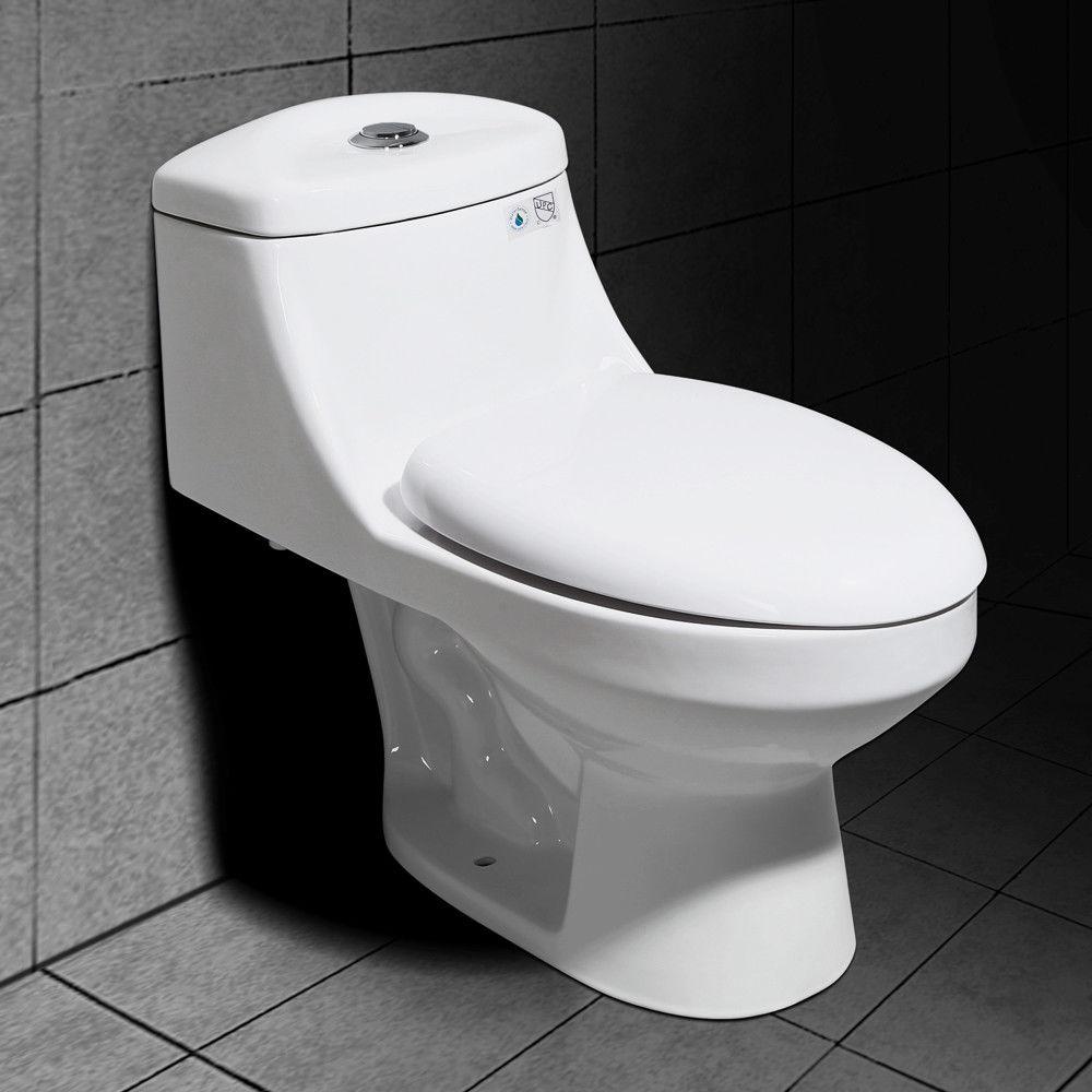 Wondrous Details About Bath Floor Mount White 1 Piece Dual Flush Compact Elongated Toilet 0 8 1 6 Gpf Unemploymentrelief Wooden Chair Designs For Living Room Unemploymentrelieforg