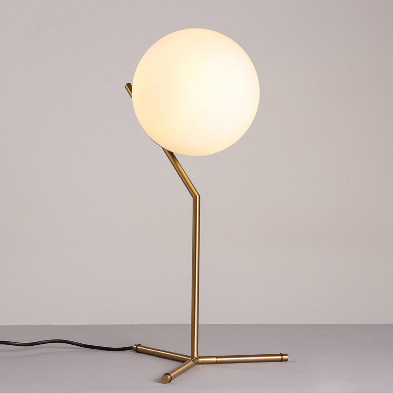 thumbnail 9 - Modern White Glass Globe LED Desk Lamp Plugin Floor Bedside Table Lights Fixture
