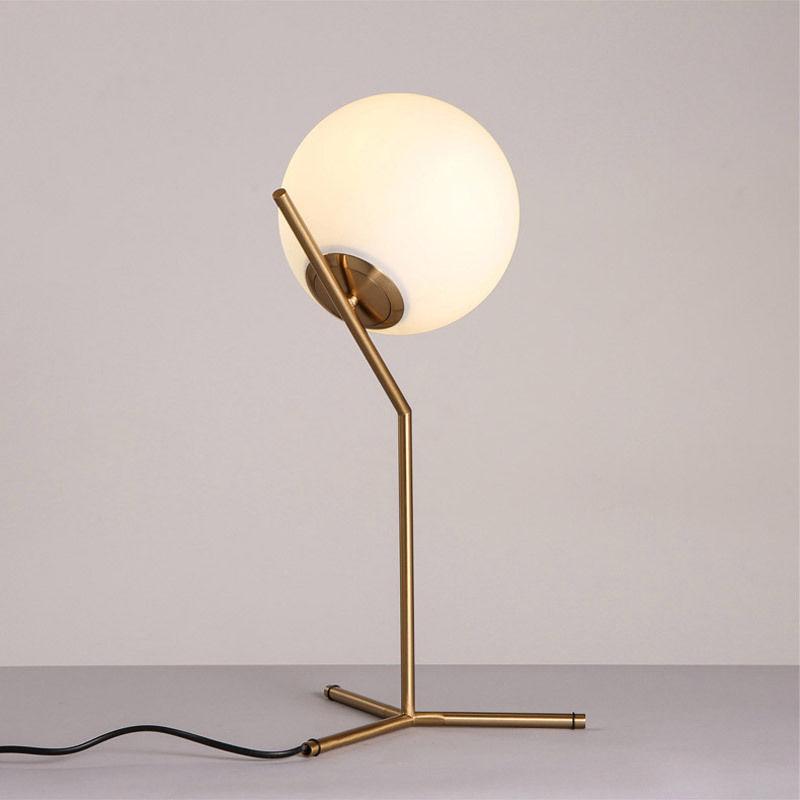 thumbnail 11 - Modern White Glass Globe LED Desk Lamp Plugin Floor Bedside Table Lights Fixture