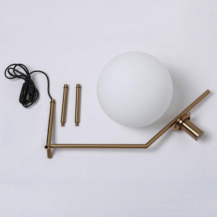 thumbnail 13 - Modern White Glass Globe LED Desk Lamp Plugin Floor Bedside Table Lights Fixture