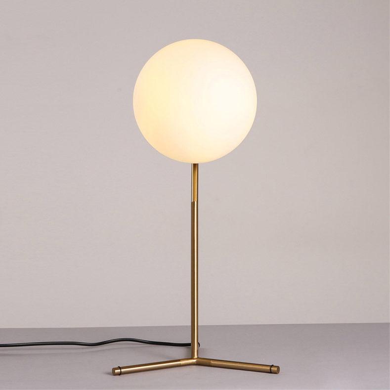 thumbnail 10 - Modern White Glass Globe LED Desk Lamp Plugin Floor Bedside Table Lights Fixture