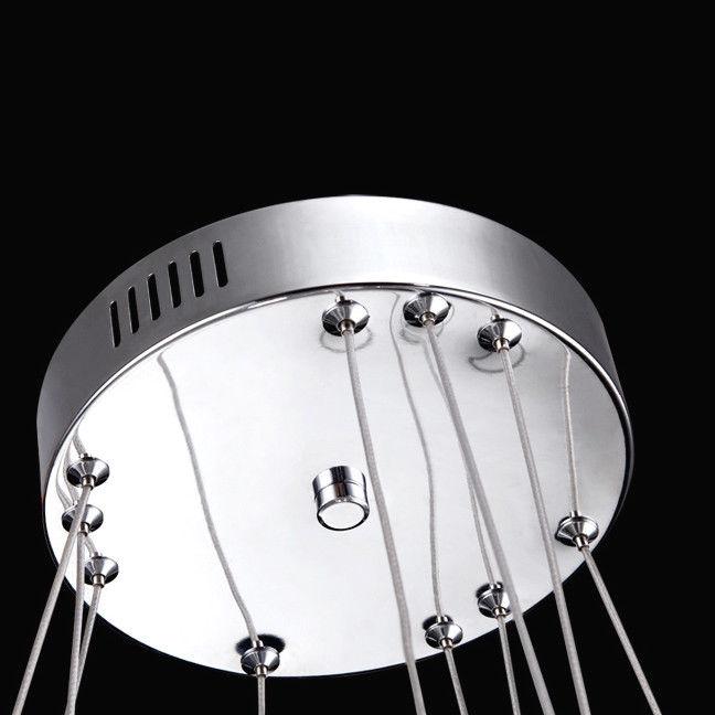 Modern 3 Tier Led Ring Chandelier Pendant Lamp Ceiling: Modern 3-Round LED Rings Crystal Chandelier Ceiling