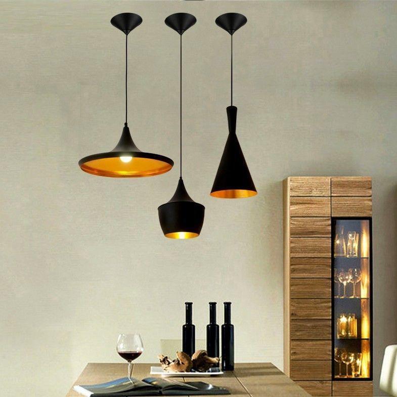 Modern Minimalist Aluminum Single-Light Hanging Pendant ...