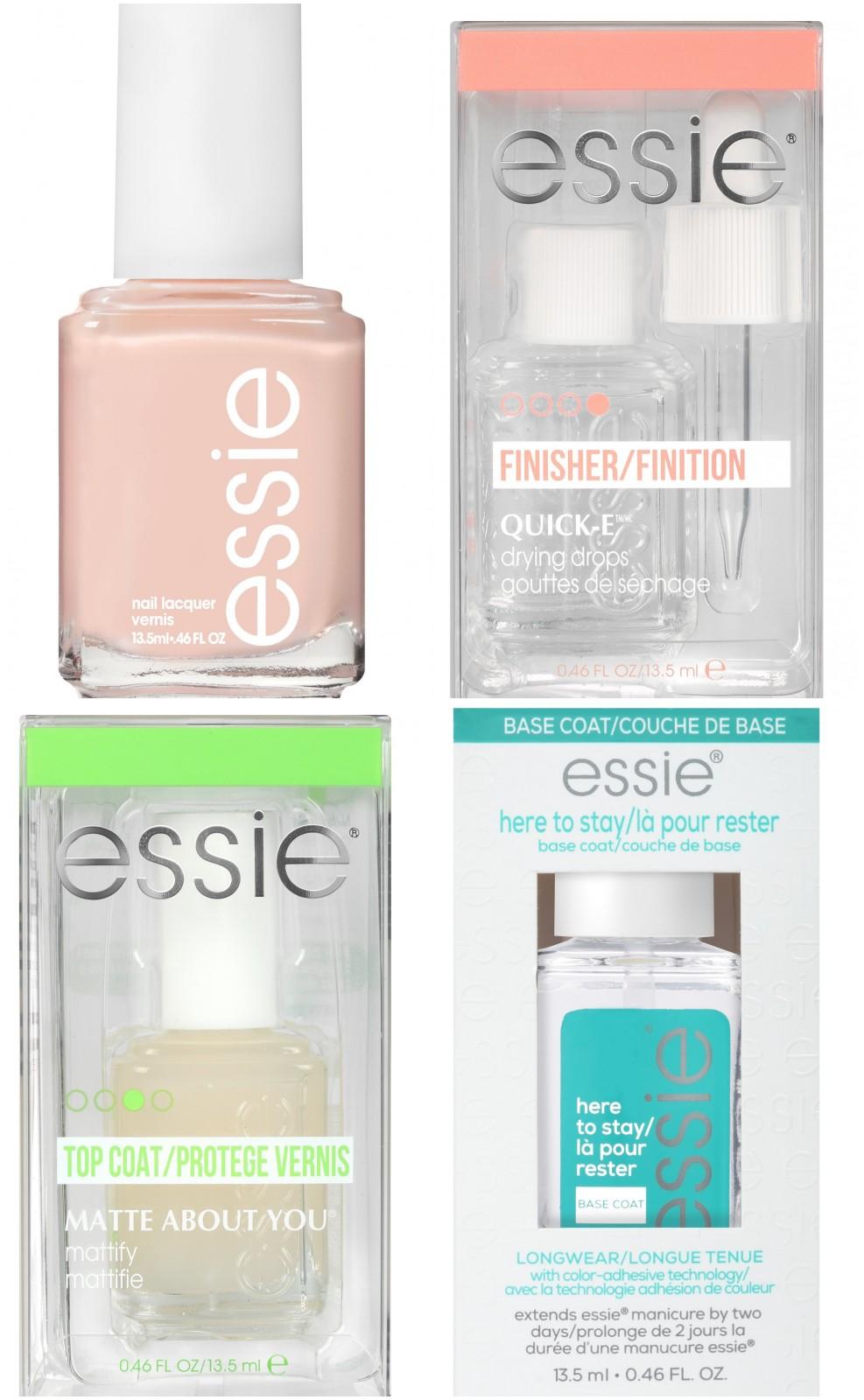 Essie-Base-Coat-Top-Coast-Quick-Dyring-Drops-amp-Mademoiselle-Sheer-Nail-Polish