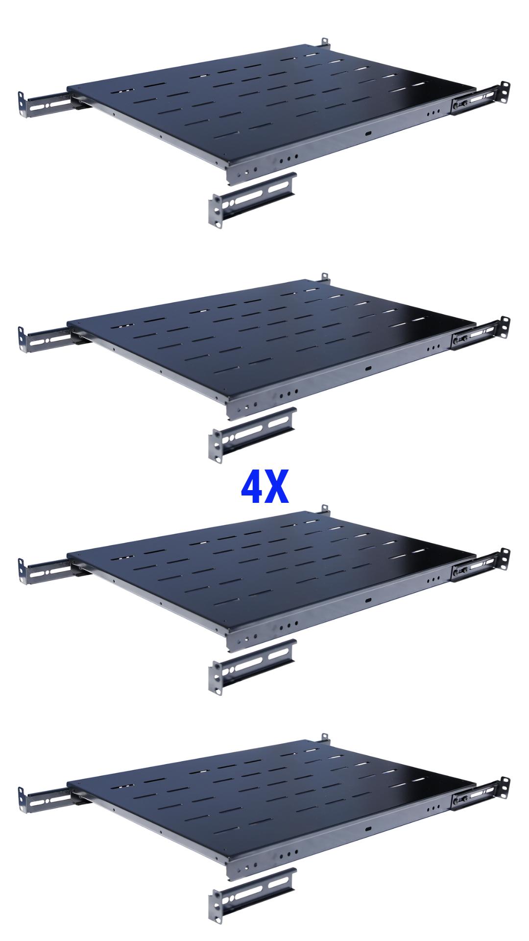 Details About 4pcs Fixed Rack Server Shelf 1u 19 Shelves Rack Mount Adjustable 24 30 Depth