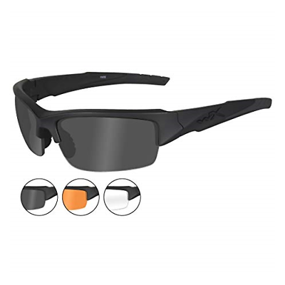 c8627872f9b Wiley-X Valor Sunglasses - Smoke Grey Clear Light Rust Lenses