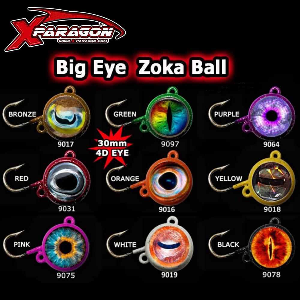X-PARAGON BOTTOM FISHING JIG HEAD ZOKA EYES SLIM EXTRA POWER GLOW 70g