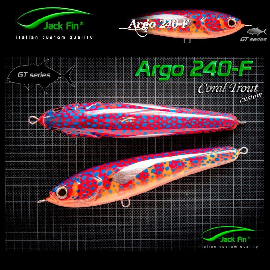 Jack Fin Handmade Stick Bait Gt Series Argo 240-F