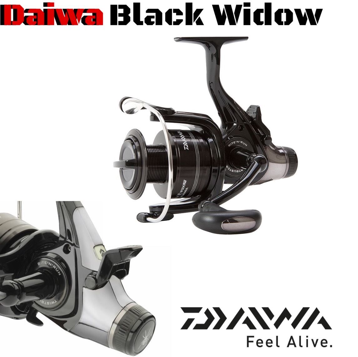 Daiwa free spool reel Black Widow BR A