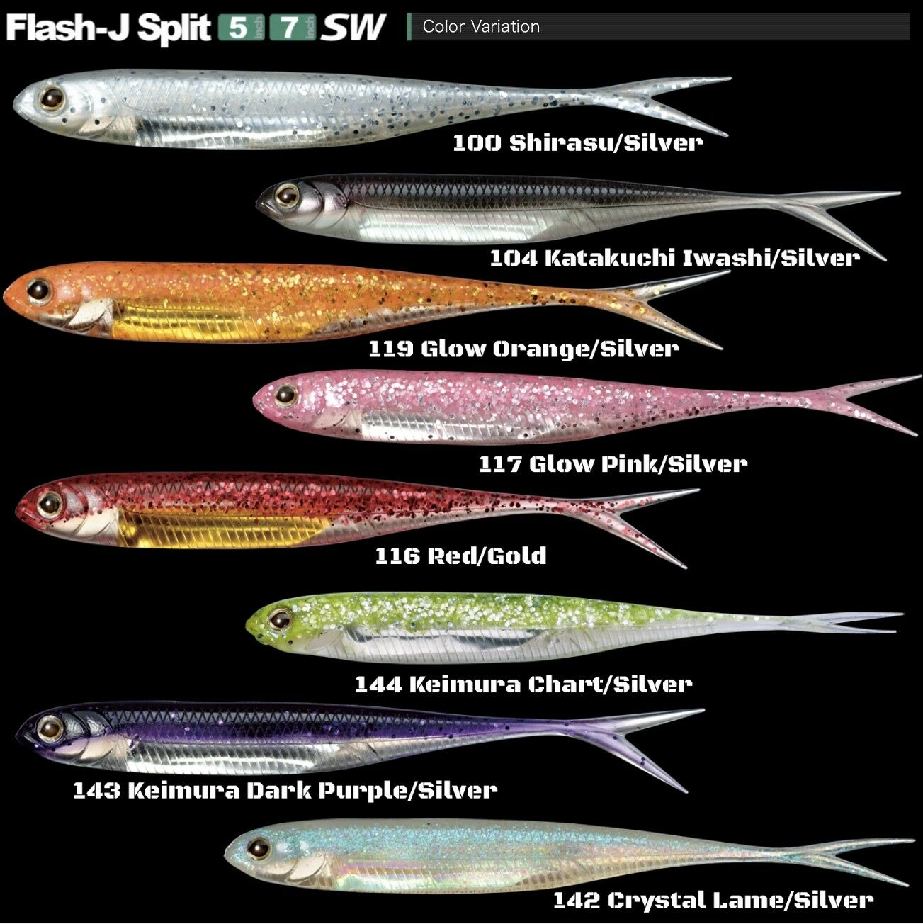 Fish Arrow Flash J Split 5inch Shirasu//Silver